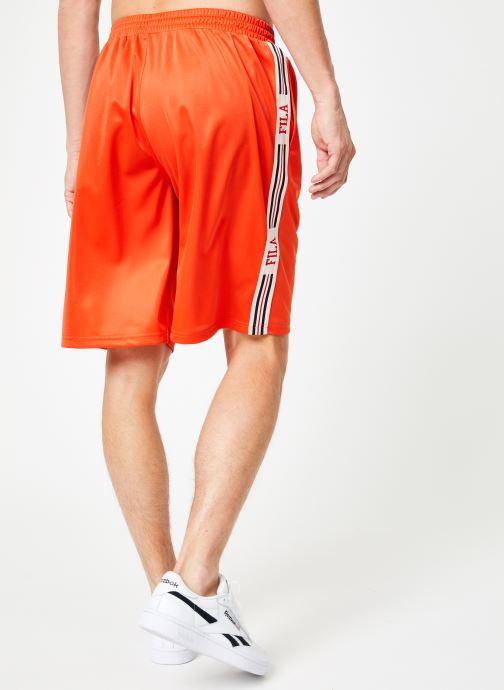 Vêtements FILA Josh Long Shorts Multicolore vue portées chaussures