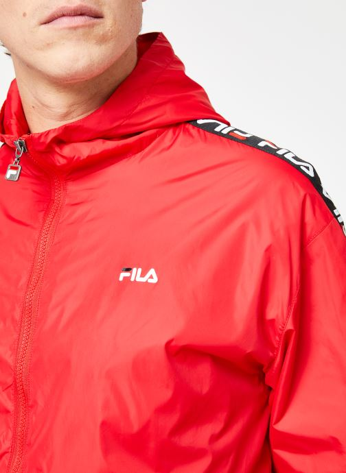 Vêtements FILA Tacey Tape Wind Jacket Rouge vue face