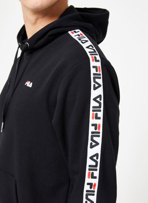 Vêtements FILA David Tape Hoodie Noir vue face