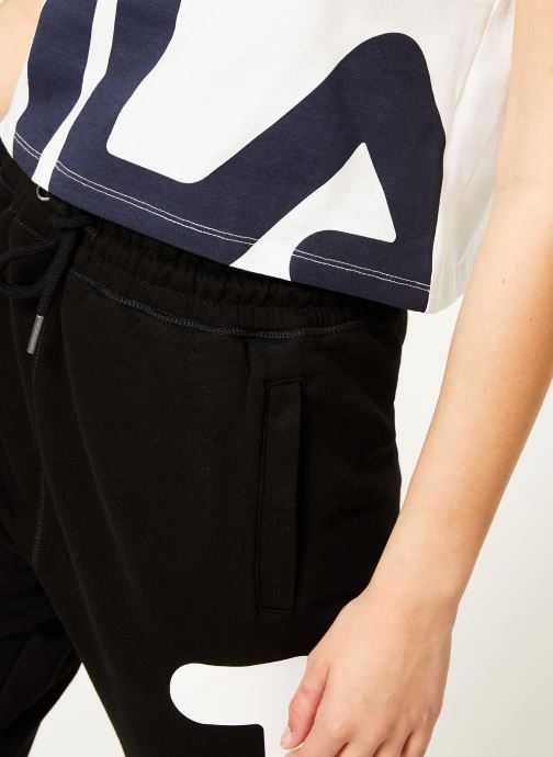 Vêtements FILA Early Cropped Tee Blanc vue face