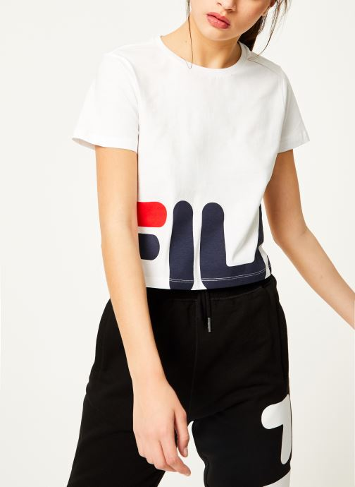 Vêtements FILA Early Cropped Tee Blanc vue détail/paire