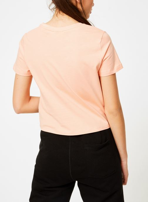 Tøj FILA Early Cropped Tee Orange se skoene på