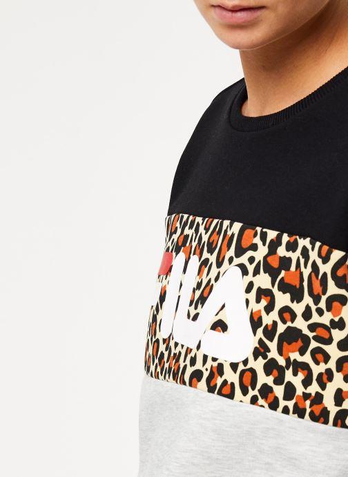 Vêtements FILA Leah Crew Sweat Noir vue face
