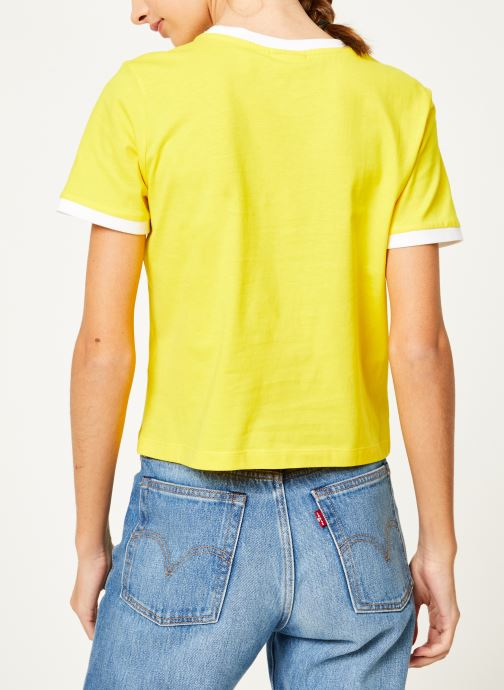 Tøj FILA Ashley Cropped Tee Gul se skoene på