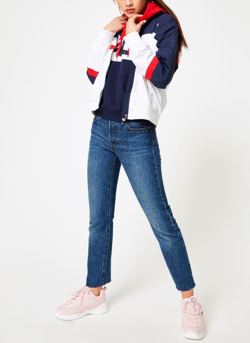 Vêtements FILA Kaya Wind Jacket Multicolore vue bas / vue portée sac