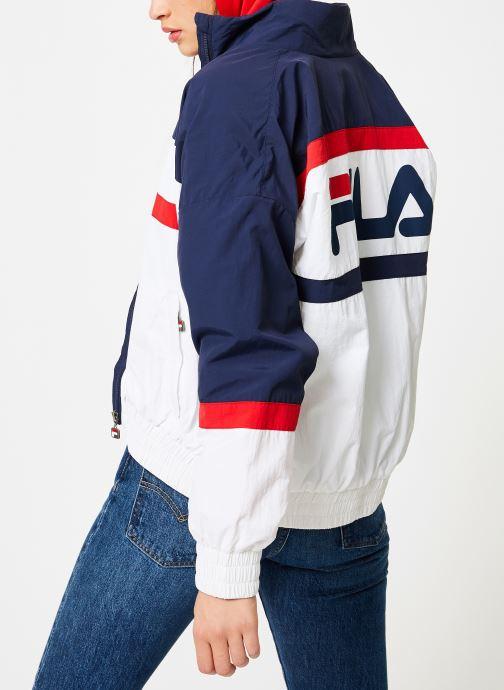 Vêtements FILA Kaya Wind Jacket Multicolore vue portées chaussures