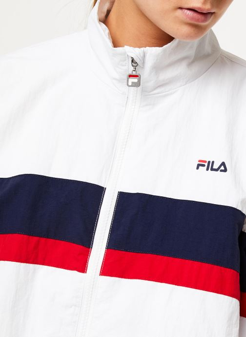 Vêtements FILA Kaya Wind Jacket Blanc vue face