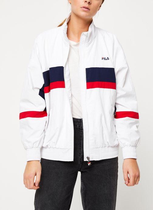 Vêtements FILA Kaya Wind Jacket Blanc vue droite