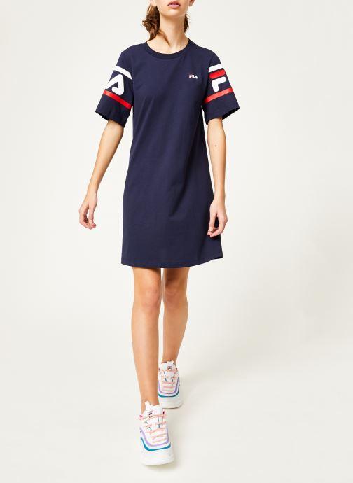 Tøj FILA Steph Tee Dress Blå se forneden