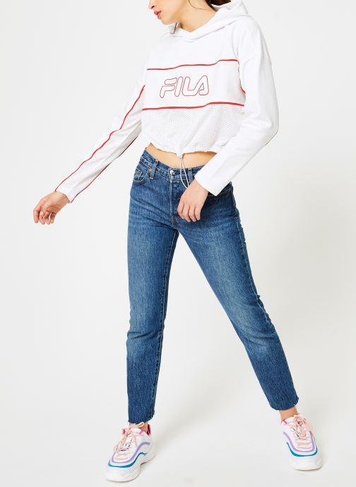 Vêtements FILA Romy Hooded Shirt Blanc vue bas / vue portée sac