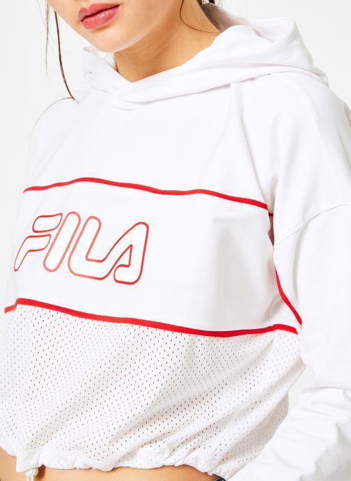 Vêtements FILA Romy Hooded Shirt Blanc vue face
