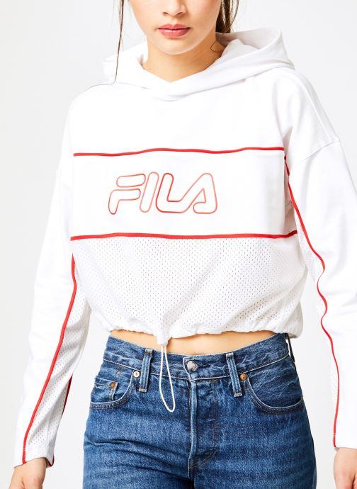 Tøj FILA Romy Hooded Shirt Hvid detaljeret billede af skoene