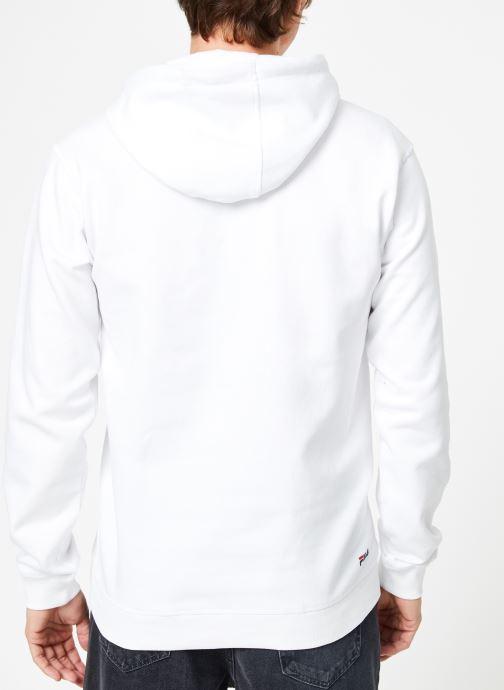 Vêtements FILA Pure Hoody Homme Blanc vue portées chaussures