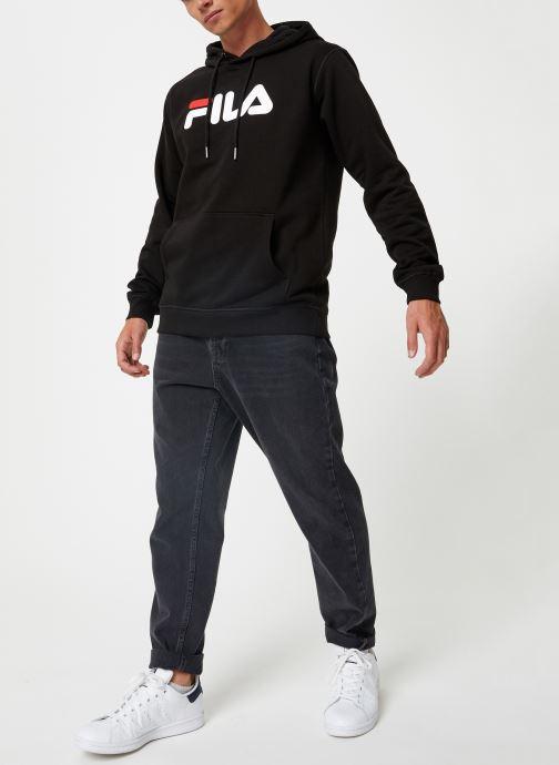 Vêtements FILA Pure Hoody Homme Noir vue bas / vue portée sac