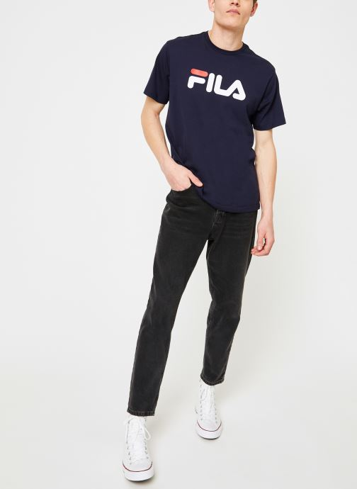 Kleding FILA Pure Short Sleeve Shirt Homme Blauw onder