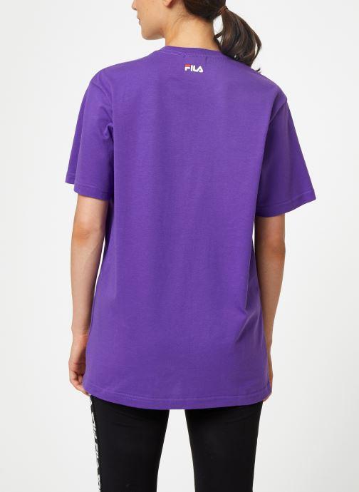 Kleding FILA Pure Short Sleeve Shirt Femme Paars model