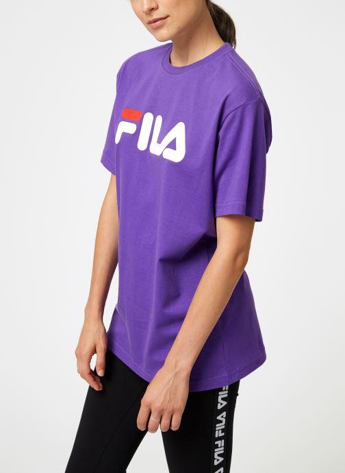 Kleding FILA Pure Short Sleeve Shirt Femme Paars rechts