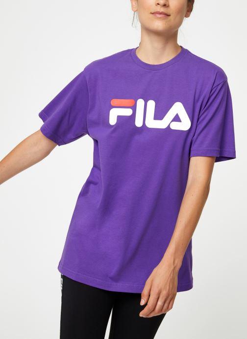 Kleding FILA Pure Short Sleeve Shirt Femme Paars detail