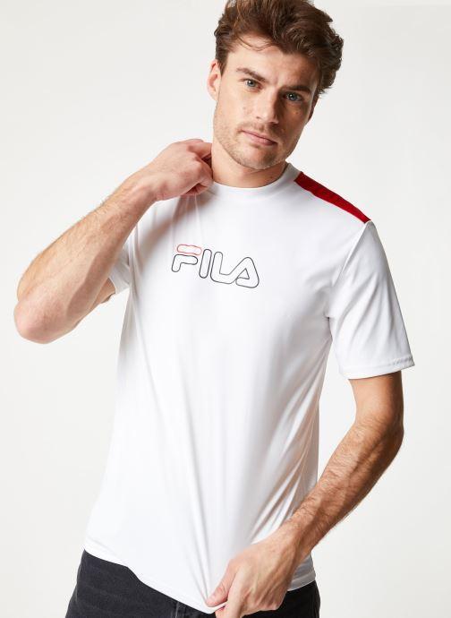 Vêtements FILA EROL Tee Blanc vue détail/paire