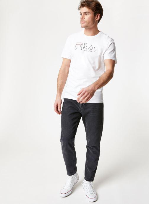 Vêtements FILA PAUL Tee Blanc vue bas / vue portée sac