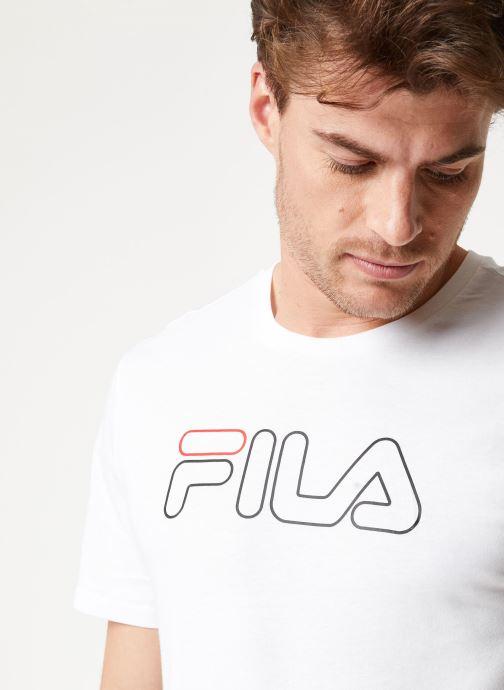 Vêtements FILA PAUL Tee Blanc vue face