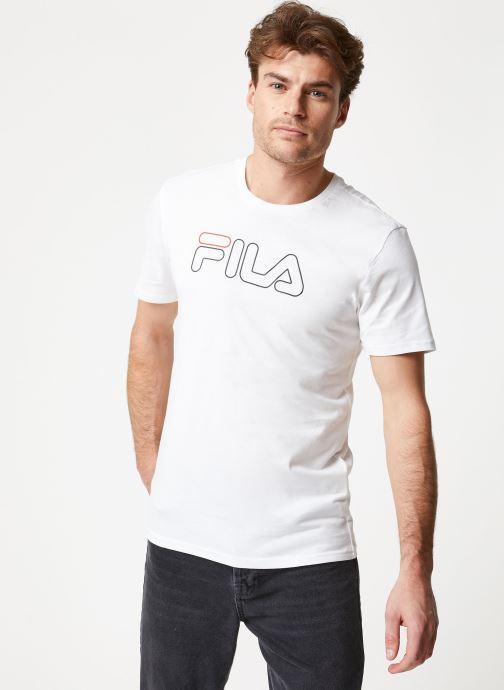 Vêtements FILA PAUL Tee Blanc vue droite