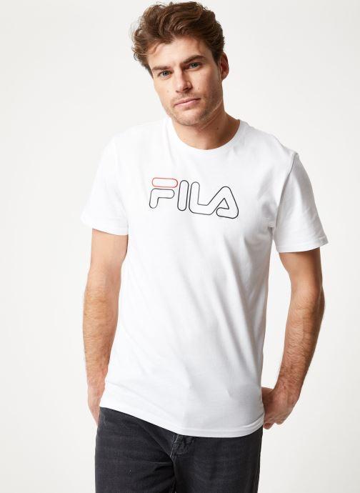 Vêtements FILA PAUL Tee Blanc vue détail/paire