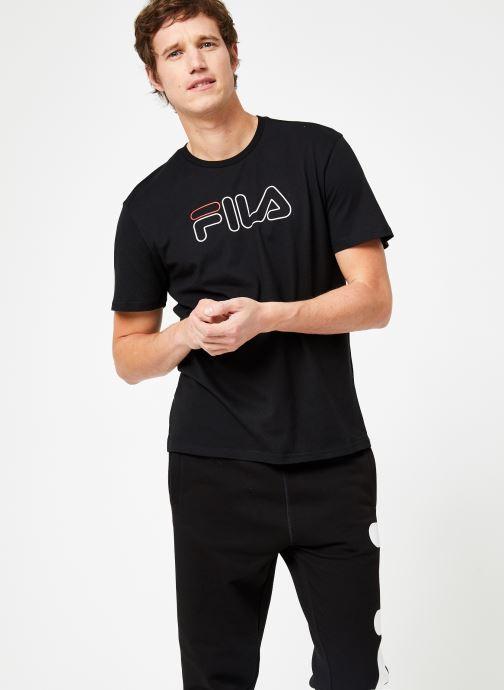 Vêtements FILA PAUL Tee Noir vue droite