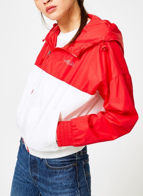 Vêtements FILA RAY Wind Breaker Blanc vue droite
