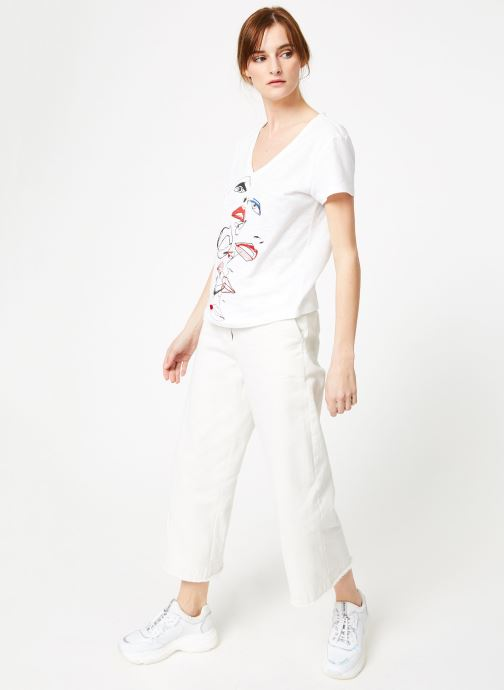 VêtementsT Ikks Et Mc Blanc Women Tsh shirts Débardeurs 8nvmN0w