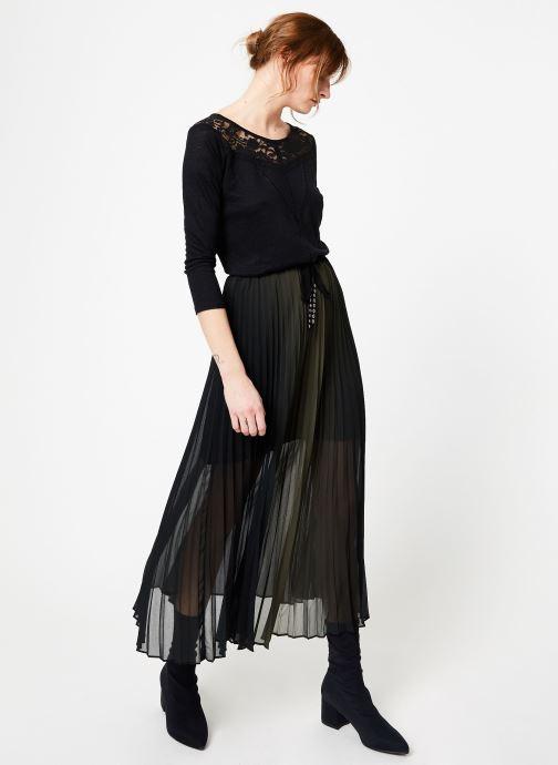 Vêtements IKKS Women Tsh M3 Noir vue bas / vue portée sac