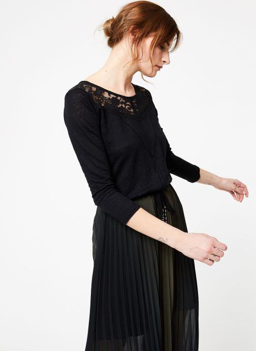 Vêtements IKKS Women Tsh M3 Noir vue détail/paire