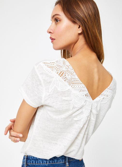 Vêtements IKKS Women 1 Tsh Mc Lin Blanc vue détail/paire