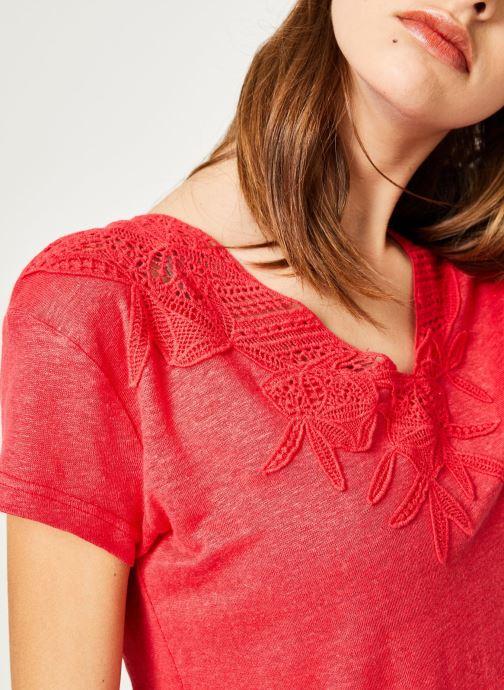 Vêtements IKKS Women 1 Tsh Mc Lin Bordeaux vue face