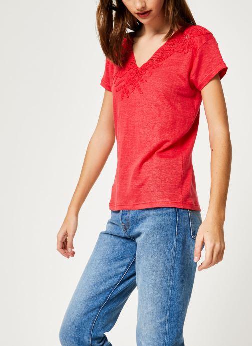 Vêtements IKKS Women 1 Tsh Mc Lin Bordeaux vue droite