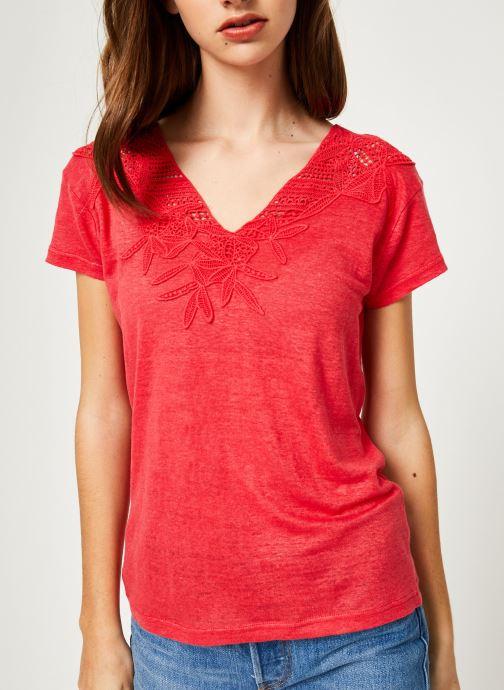 Vêtements IKKS Women 1 Tsh Mc Lin Bordeaux vue détail/paire