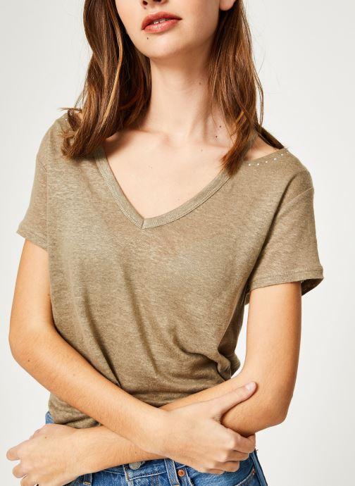Vêtements IKKS Women Tsh Mc Lin Vert vue détail/paire