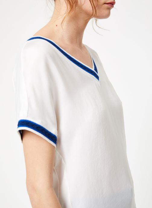 Vêtements IKKS Women Top Mc Blanc vue face