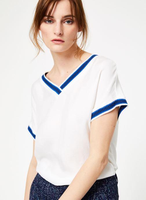 Vêtements IKKS Women Top Mc Blanc vue détail/paire