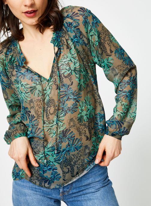 Vêtements IKKS Women Blo Ml Vert vue détail/paire