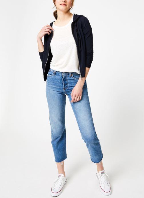 Vêtements IKKS Women Car Ml Capuche Bleu vue bas / vue portée sac
