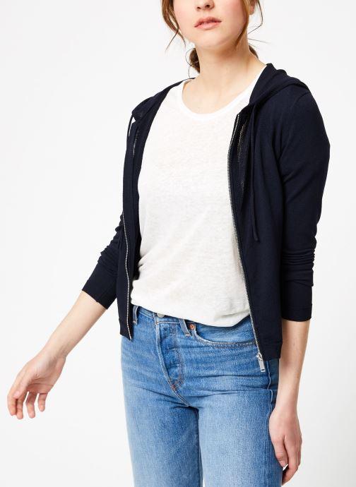 Vêtements IKKS Women Car Ml Capuche Bleu vue détail/paire