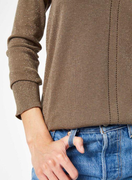 Vêtements IKKS Women Pul Ml Vert vue face