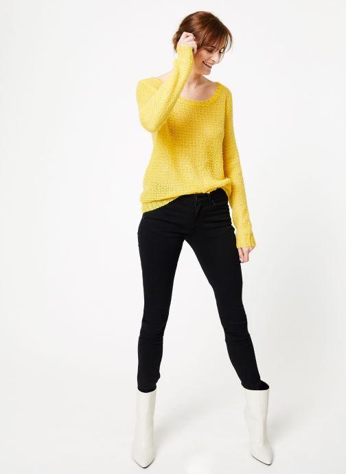 Vêtements IKKS Women Pul Ml Ajoure Jaune vue bas / vue portée sac