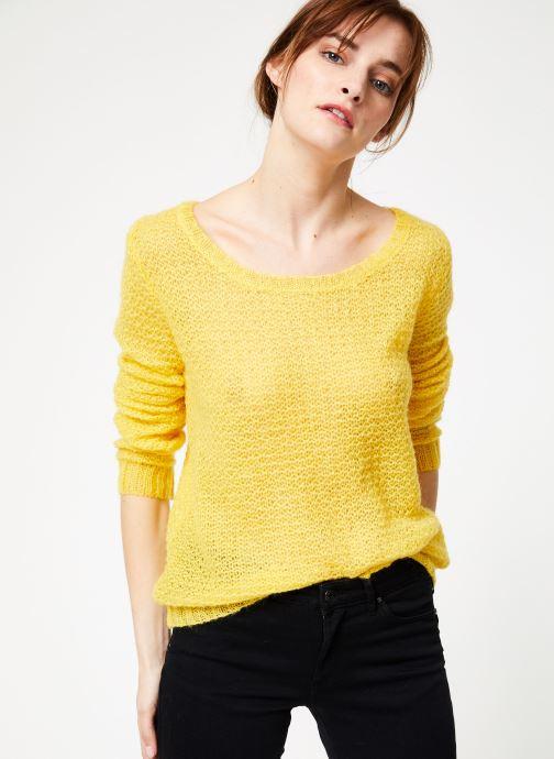 Vêtements IKKS Women Pul Ml Ajoure Jaune vue détail/paire