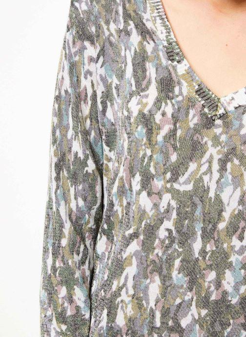 Vêtements IKKS Women Pul Ml Imprime Vert vue face