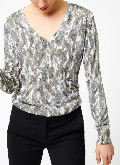 Vêtements IKKS Women Pul Ml Imprime Vert vue détail/paire