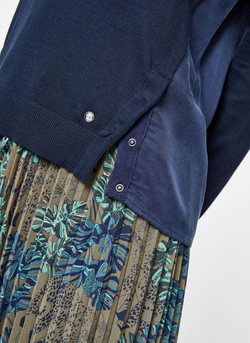 Vêtements IKKS Women 1 Pul Ml Bleu vue face