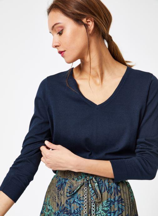 Vêtements IKKS Women 1 Pul Ml Bleu vue détail/paire
