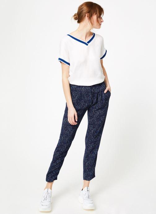 Vêtements IKKS Women Pan Imp Bleu vue bas / vue portée sac